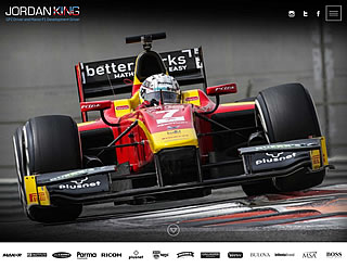 responsive design, media queries & mobile development for Jordan King GP2 and Manor Formula1 Development driver